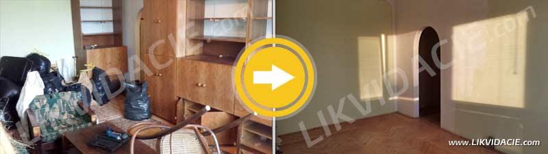 Odvoz a likvidácia kuchynskej linky, búracie práce, komplet zariadený 3i. byt. Bratislava - Kramáre