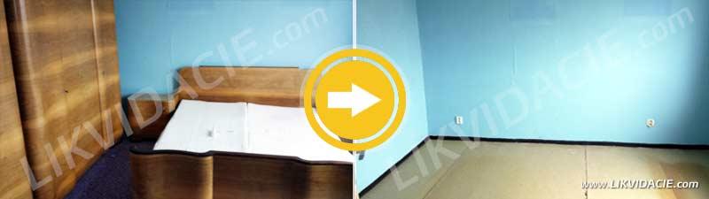 Úplné vypratanie 3i. bytu, odvoz a likvidácia starého nábytku a zariadenia. Vrbové – Piešťany