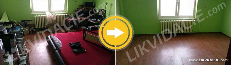 Vypratanie 3i. bytu: likvidácia nábytku, zariadenia a elektroodpadu. Bratislava – Nové Mesto