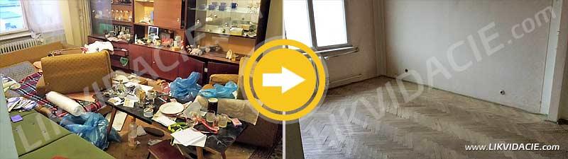 Vypratanie bytu do holopriestoru. Kompletné služby pred predajom bytu. Bratislava