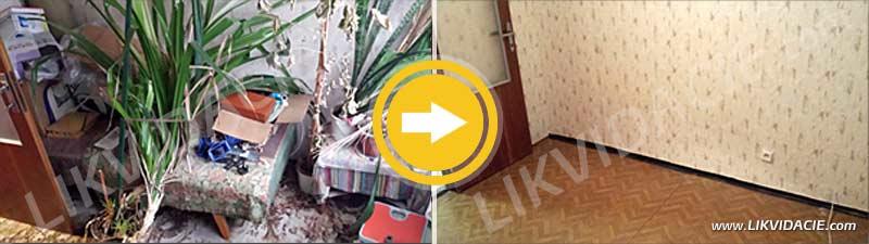 Úplné vypratanie kompletne zariadeného 3i. bytu. Bratislava - Petržalka