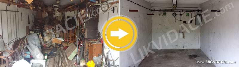 Odvoz a likvidácia odpadu z garáže a technickej jamy, Bratislava – Ružinov