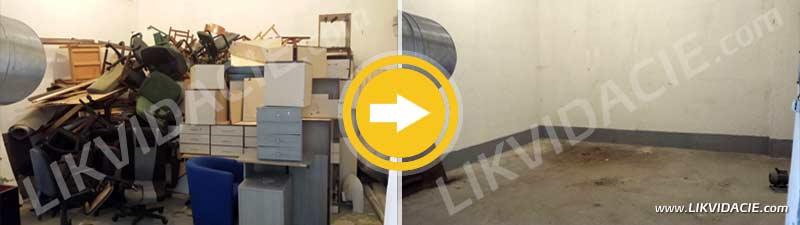 Likvidácia vyradeného kancelárskeho zariadenia a odpadu. SHMÚ Bratislava – Koliba