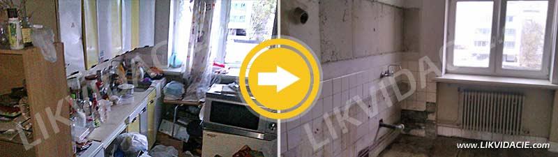Vypratanie bytu do holopriestoru, odvoz a likvidácia všetkého zariadenia a odpadu, dočistenie priestoru. Bratislava